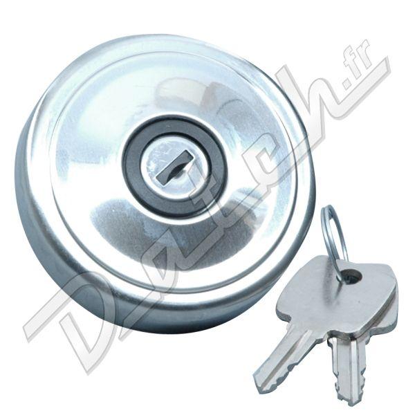 bouchon de reservoir d 39 essence mini mgb spriget a clef chrome non ventile. Black Bedroom Furniture Sets. Home Design Ideas