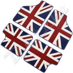 pi ces d tach es austin mini tapis de sol mini union jack laine. Black Bedroom Furniture Sets. Home Design Ideas